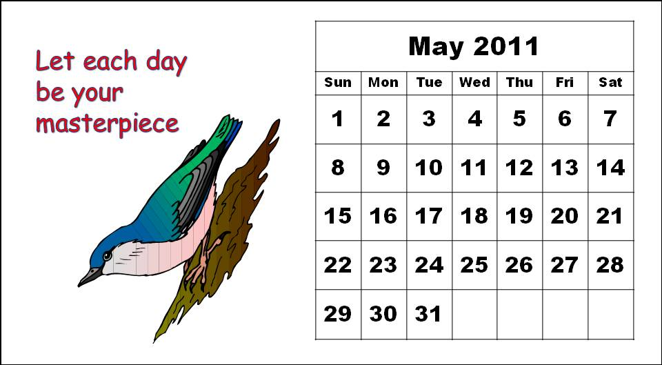 may 2011 calendar with holidays. 2011 calendar holidays canada.