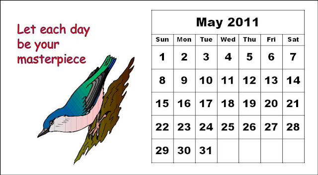 may calendars 2011. Free Homemade Calendar 2011