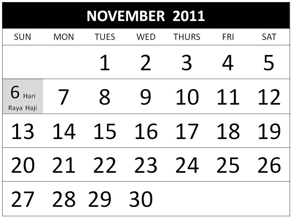calendar november 2011. printable calendar 2011