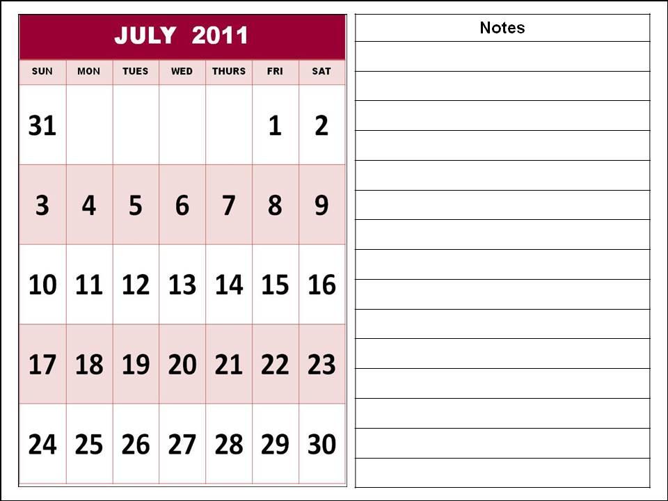 printable calendars july. july calendar 2011 printable.