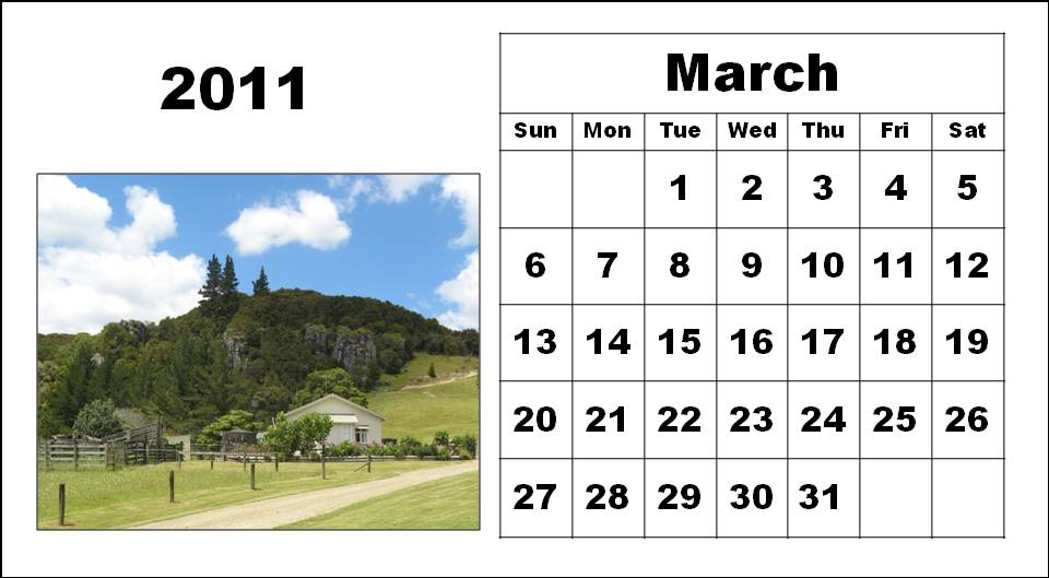2011 calendar for march. To download and print these Free Big Monthly Calendar 2011 March with big