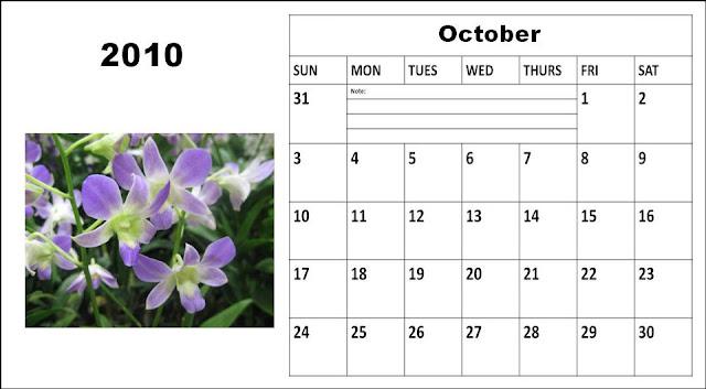 blank calendar 2010. Blank Planner Calendar 2010