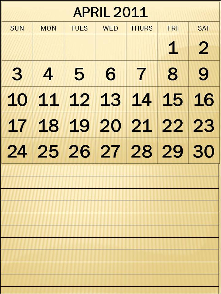 april 2011 printable calendar. PRINTABLE CALENDAR 2011 APRIL