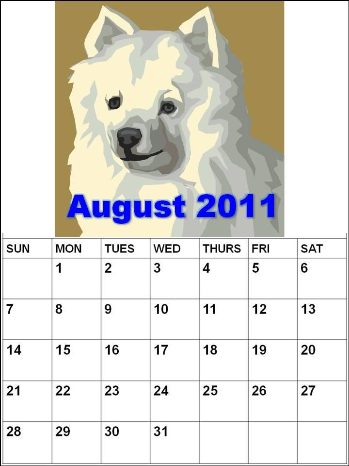 calendars 2011 august. Calendar 2011 August :