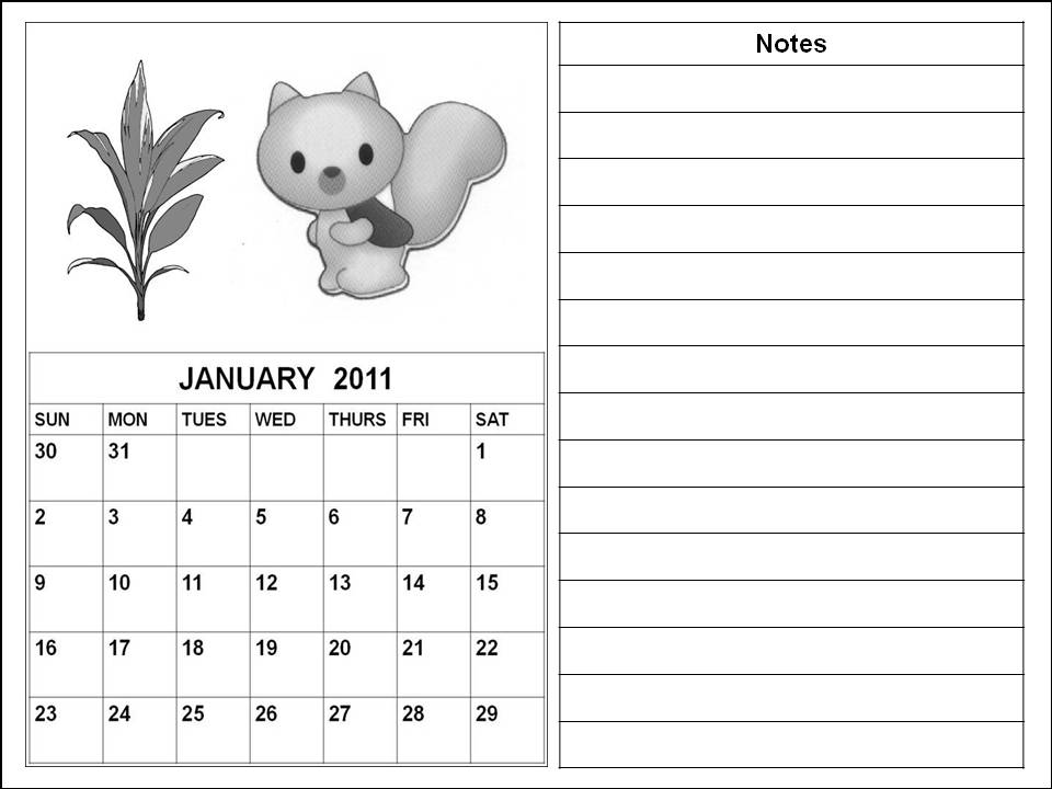 2011 calendar pages. Blank January 2011 Calendar downloadable free templates printable .