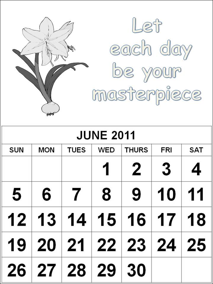 june 2011 calendar page. cartoons Calendar 2011