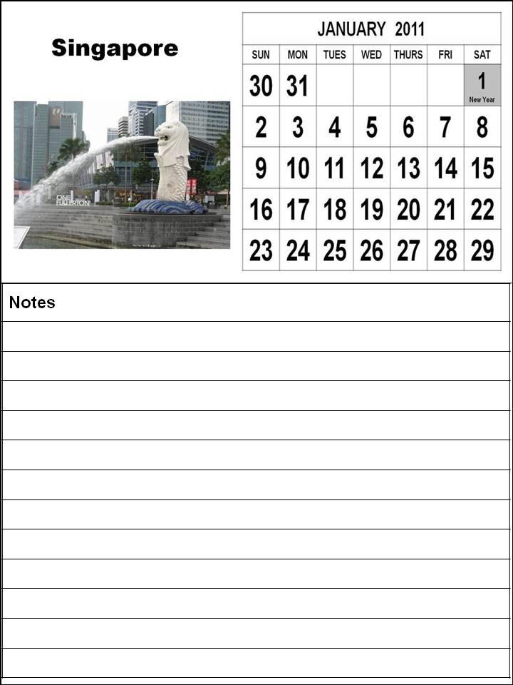 singapore 2011 calendar with public holidays. Free Printable Singapore 2011 January Calendar with Holidays (PH)