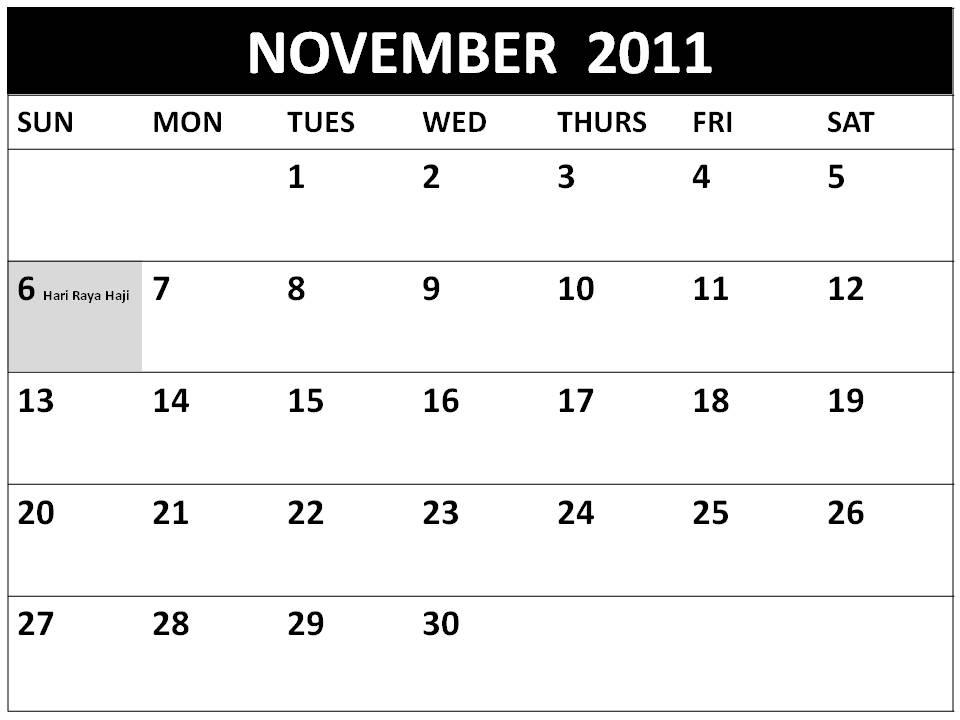 november calendar 2011. 2011+november+calendar