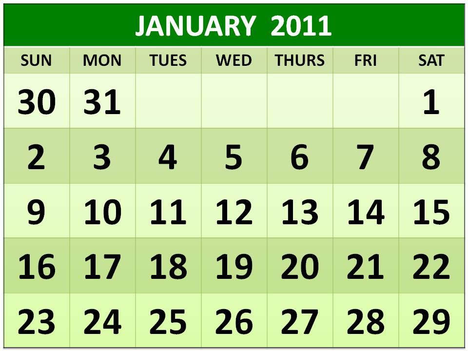 2011 calendar with holidays printable. blinds january 2011 calendar