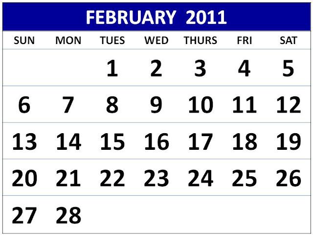 2011 calendar printable february. 2011 calendar printable free.