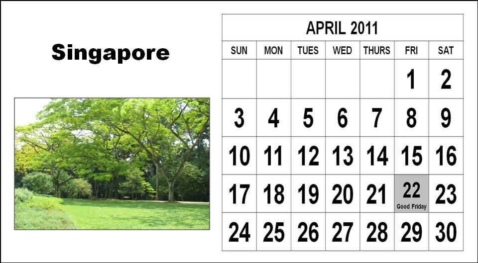 2011 calendar with holidays. april 2011 calendar with