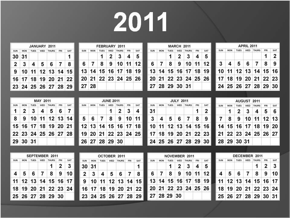 2011 Calendar By Month. with month Calendar free; 2011