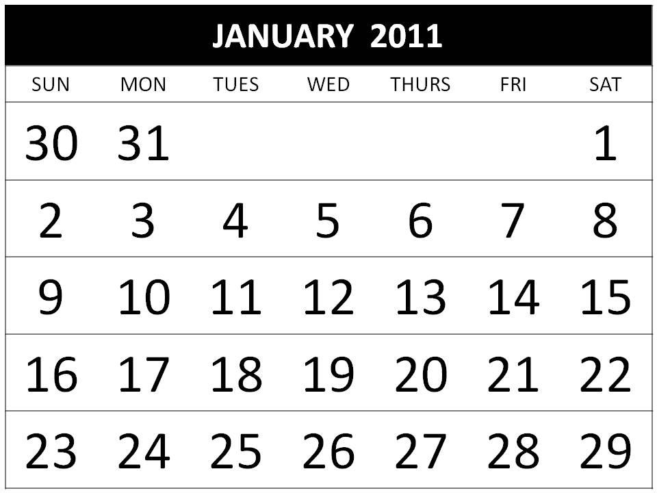 2011 calendar printable january. Free Printable Calendar 2011