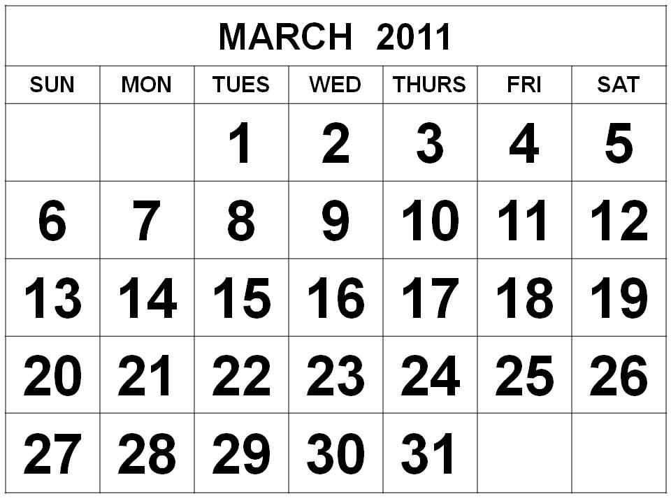 2011 calendar template excel. monthly calendar template