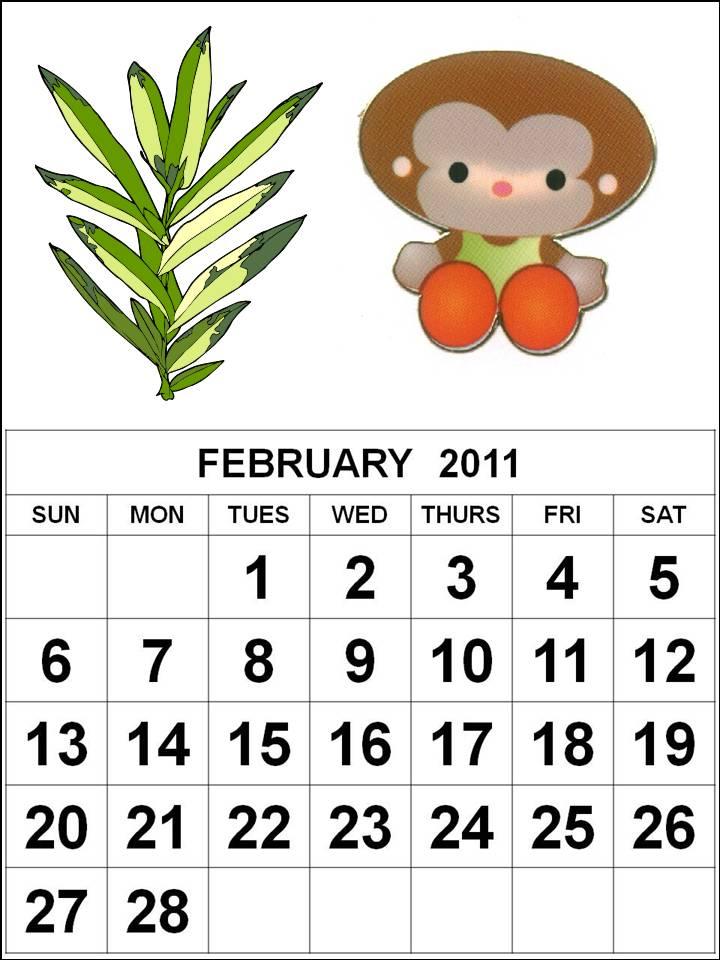 2011 calendar for print