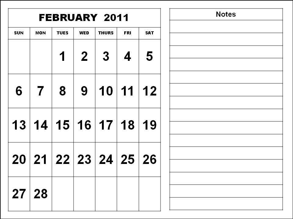 february calendar clip art. January February 2011 Calendar