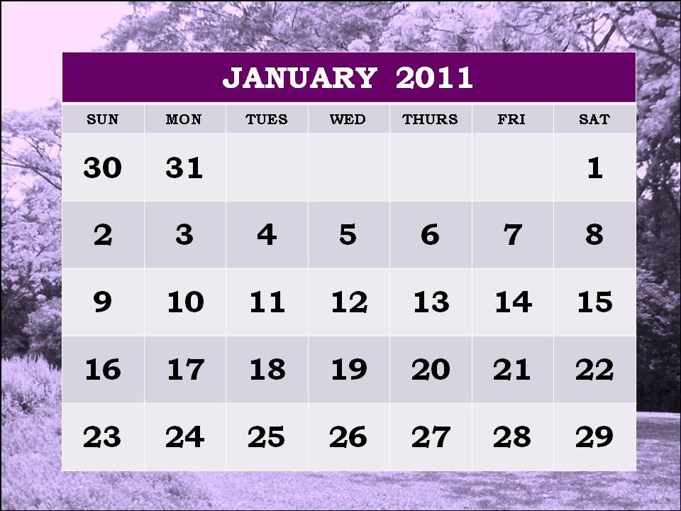 2011 calendar printable january. february 2011 calendar print