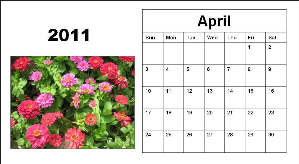 april calendar 2011 with holidays. events Calendar+april+2011