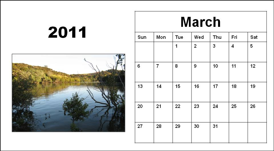 2011 Calendar Template Word. word calendar pdf files months