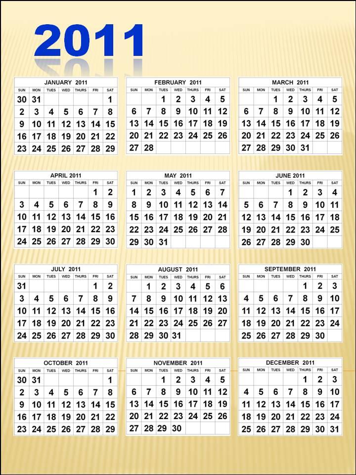 2011 Calendar Printable Pdf. 2011 Calendar Printable Pdf