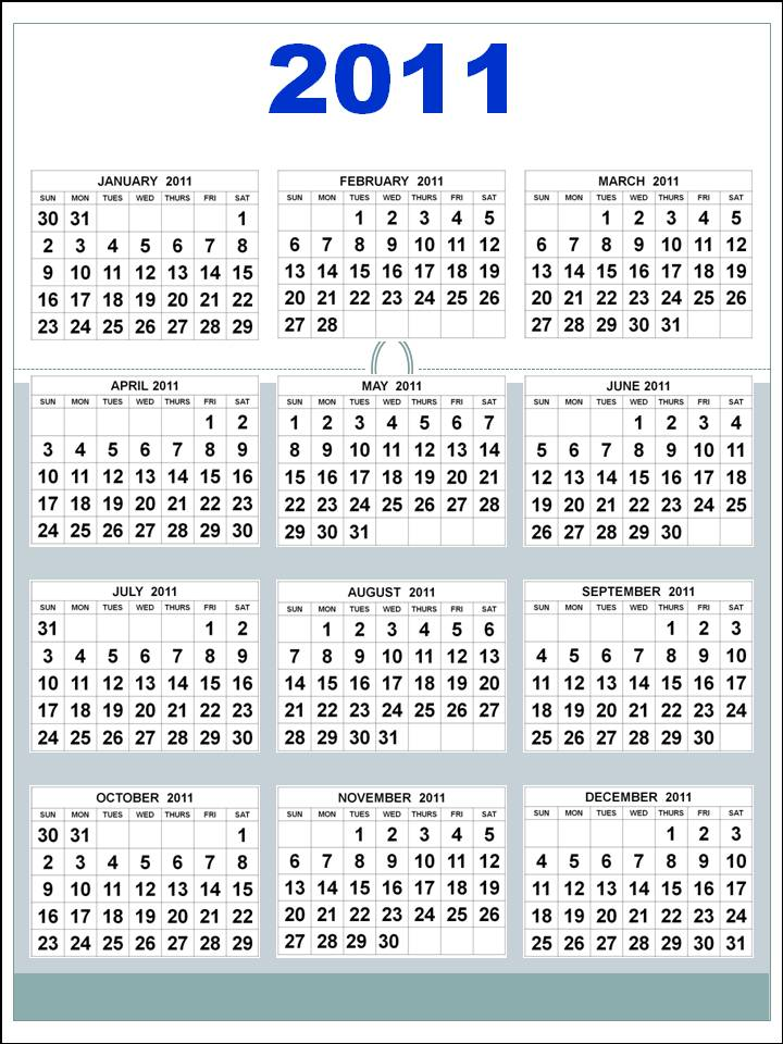 yearly calendar 2011. 2011 calendar printable yearly
