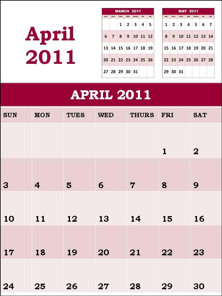 monthly calendar 2011 template. monthly calendar template