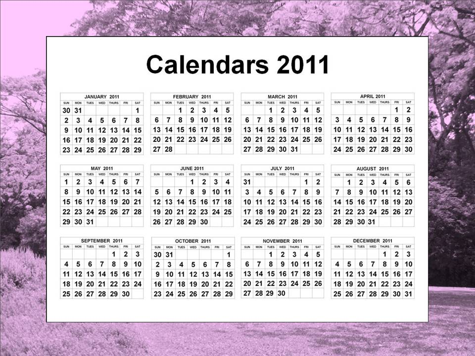 calendar 2011 printable one page. -week calendar each printable