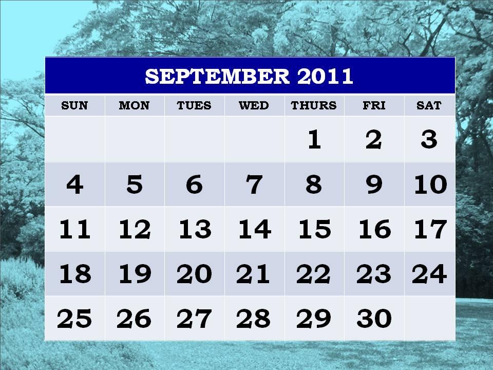 calendar september 2011. Free Printable September 2011