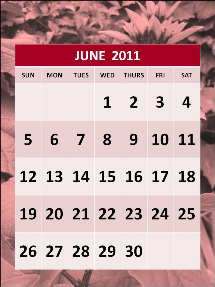 june 2011 calendar. printable june 2011 calendar.