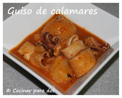 Calamares en salsa cocinar para 2 for Cocinar calamares pequenos