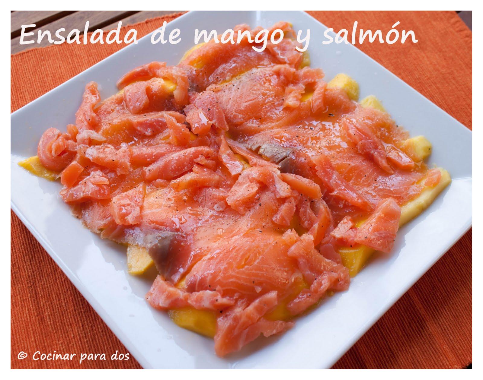 Ensalada de mango y salm n cocinar para 2 for Cocinar con mango