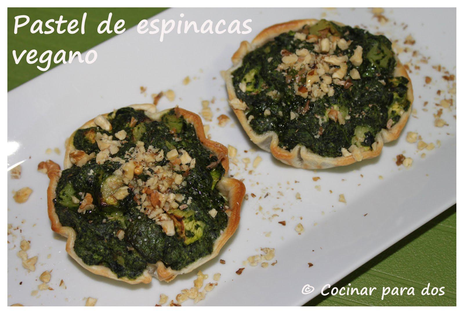Pastel de espinacas vegano cocinar para 2 for Cocinar espinacas