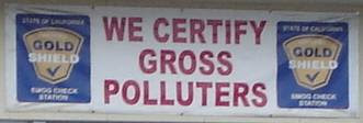 We certify gross polluters.