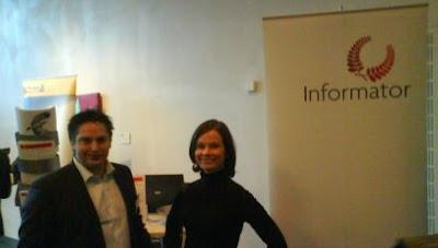 Anders B och Karin O, friskt snott från Informatorbloggen, Foto: Ola Skoog