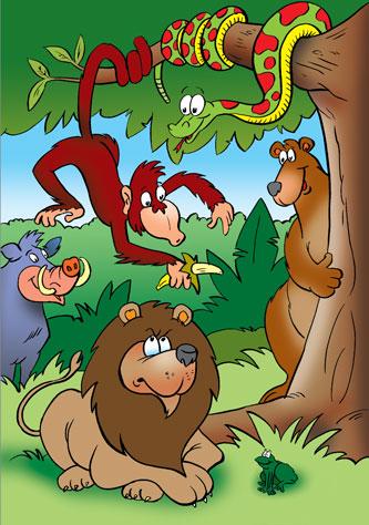 Animales de la selva animados - Imagui