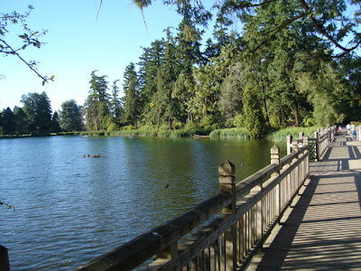 Lake in beautiful Garden across the Way from Reed College,<br />in Portland, Oregon, site of this year's Feldenkrais Guild Conference