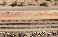 Binari della stazione di Broken Hill - Australia