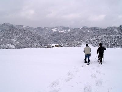 Neve e nubi a La Guna