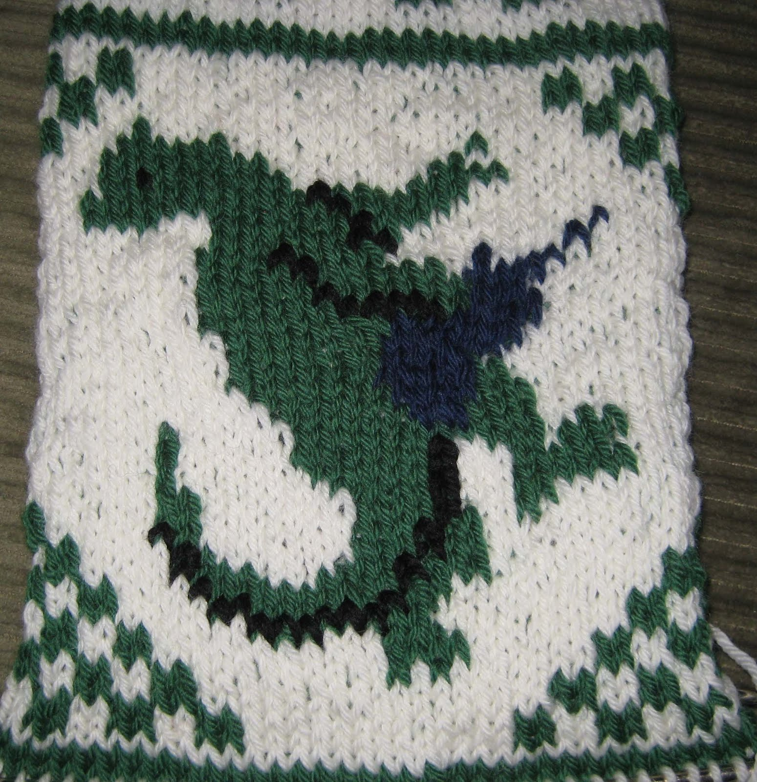 ChemKnits: Guitar Playing Dinosaurs Knitting Charts!