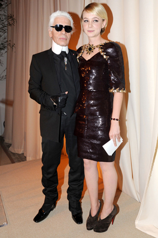 Prabal Gurung and Leighton Meester wearing his design