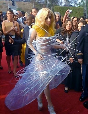 Picture of Lady Gaga walking to the Staples Center for the 2010 Grammy