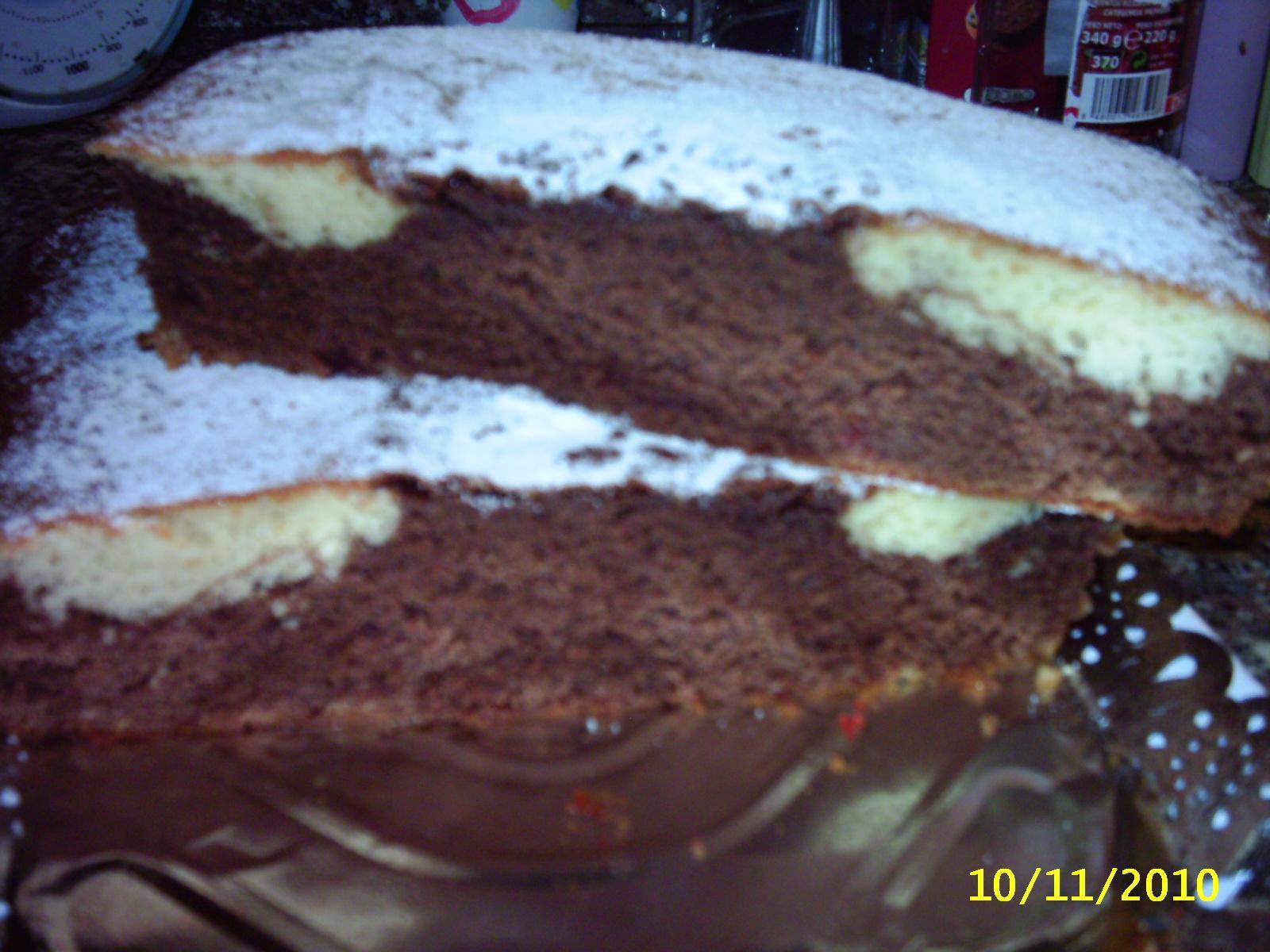 Cocina con nieves bizcocho de vainilla y chocolate for Cocina con sergio bizcocho