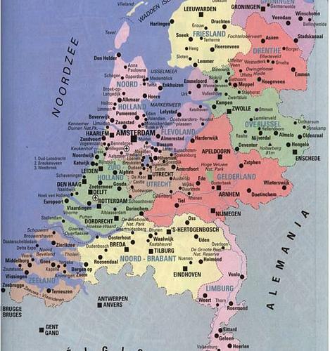 Viajes a holanda mapa de holanda for Como se llama el hotel que esta debajo del mar