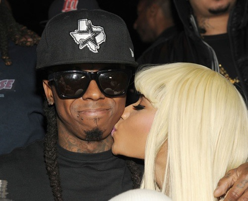 "Nicki Minaj and Lil Wayne. ""Kisses for the President,"" Nicki tweeted."