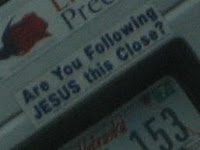 a sticker on a van that I was following fairly closely :)