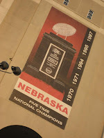 Banner on 'Huskers' stadium