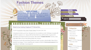 Kaleidoscope - Free Wordpress Theme - 2 columns, right sidebar, navigation menu, page navigation, RSS, social bookmarking, brown
