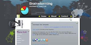 Free Blogger Template - Brainstorming - 2 columns, left sidebar, dark, grey, personal blog