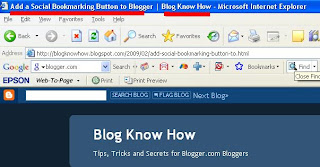 How Your Blogger Title Tags are viewed in your browser with change