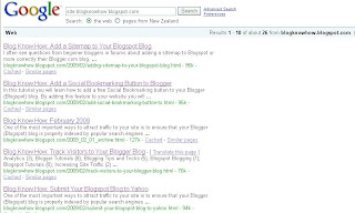 Search engine result for blogknowhow.blogspot.com before the tweak